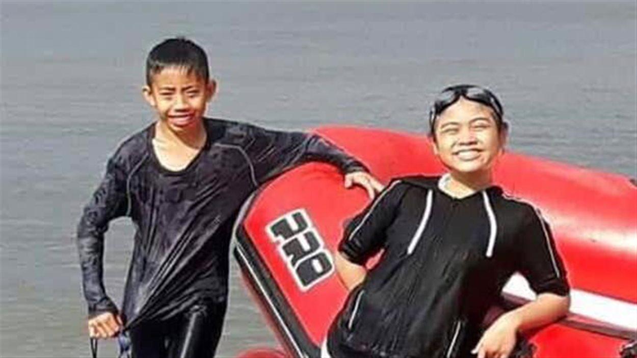 David Medina, 12 ans, et Jhonalyn Javier, 11 ans, se sont noyés lundi dans les eaux du lac Winnipeg à Grand Beach au Manitoba.