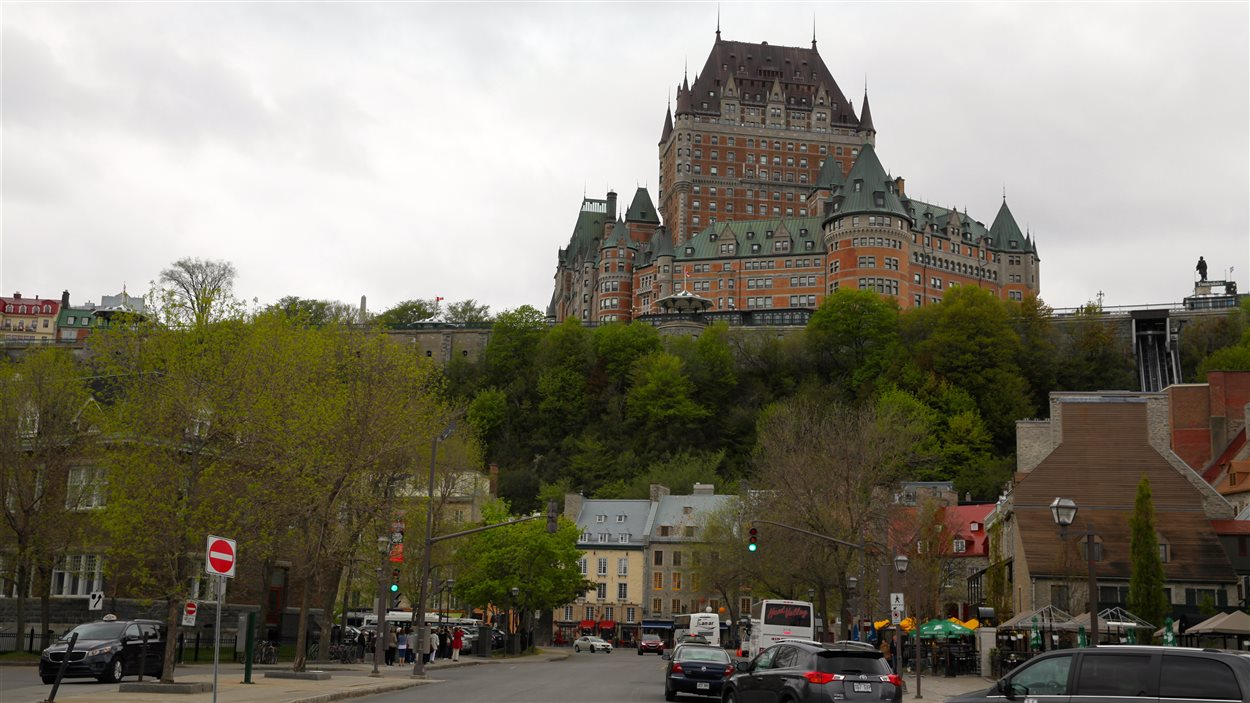 Le château Frontenac à Québec.