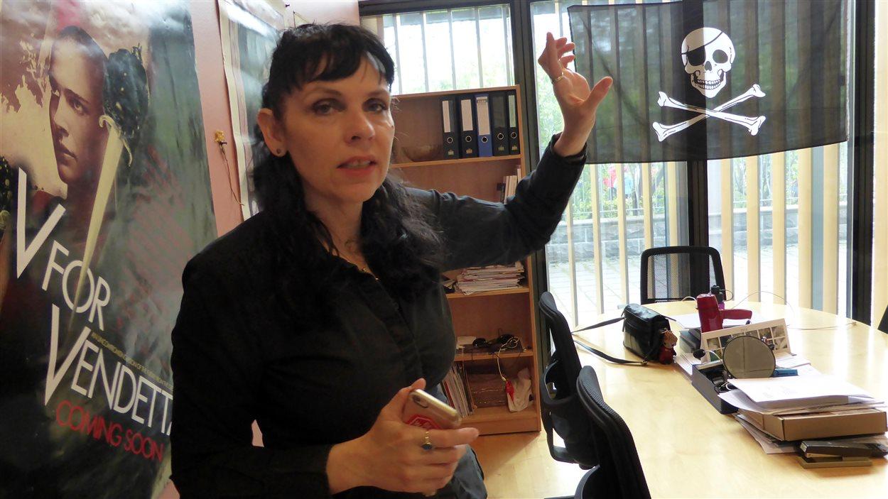 La politicienne islandaise Birgitta Jónsdóttir