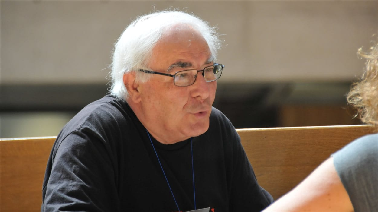 Le militant Riccardo Petrella, lors d'une rencontre au Forum social mondial le 9 août 2016 à Montréal.