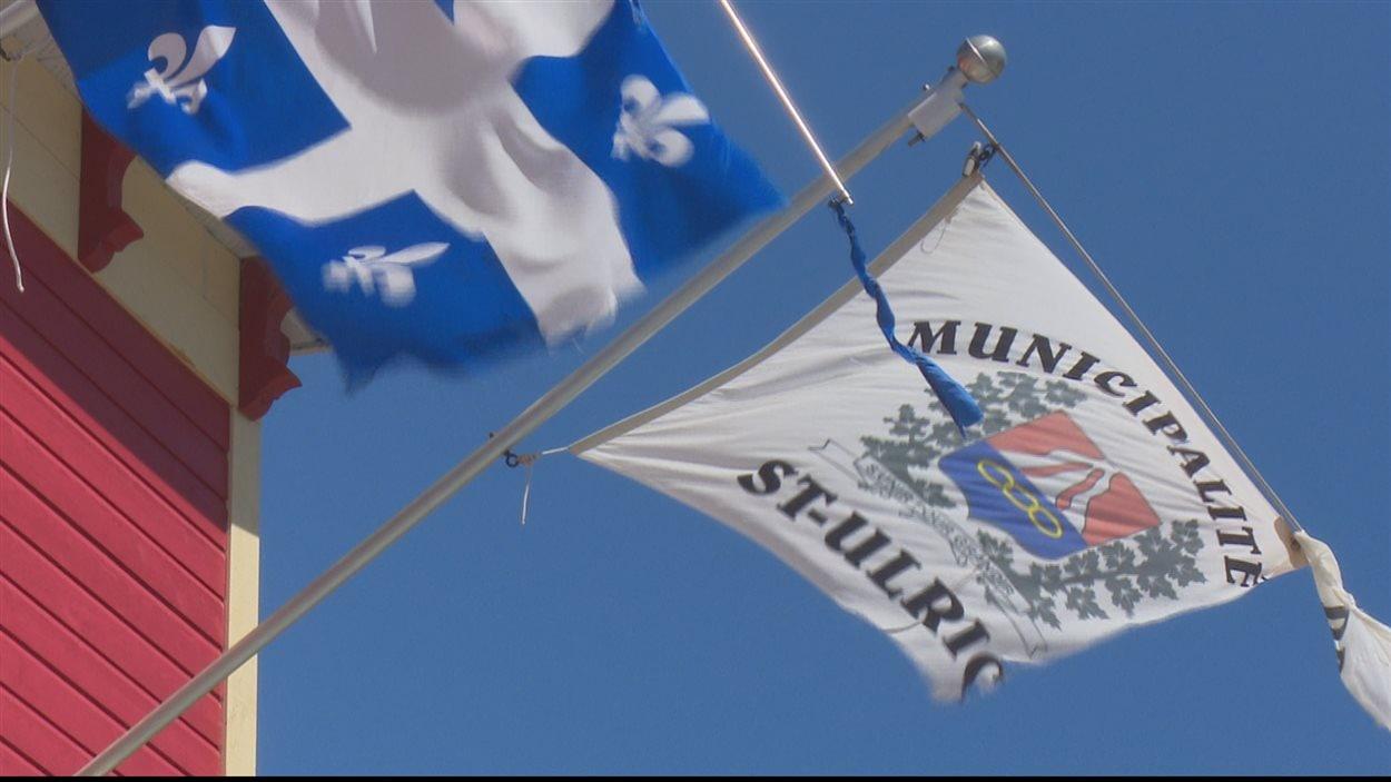 Le drapeau de la municipalité de Saint-Ulric