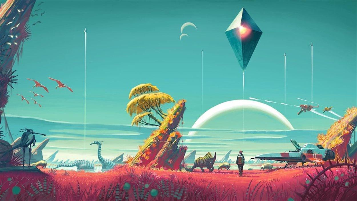 Le jeu vidéo No Man's Sky (PC et PS4)