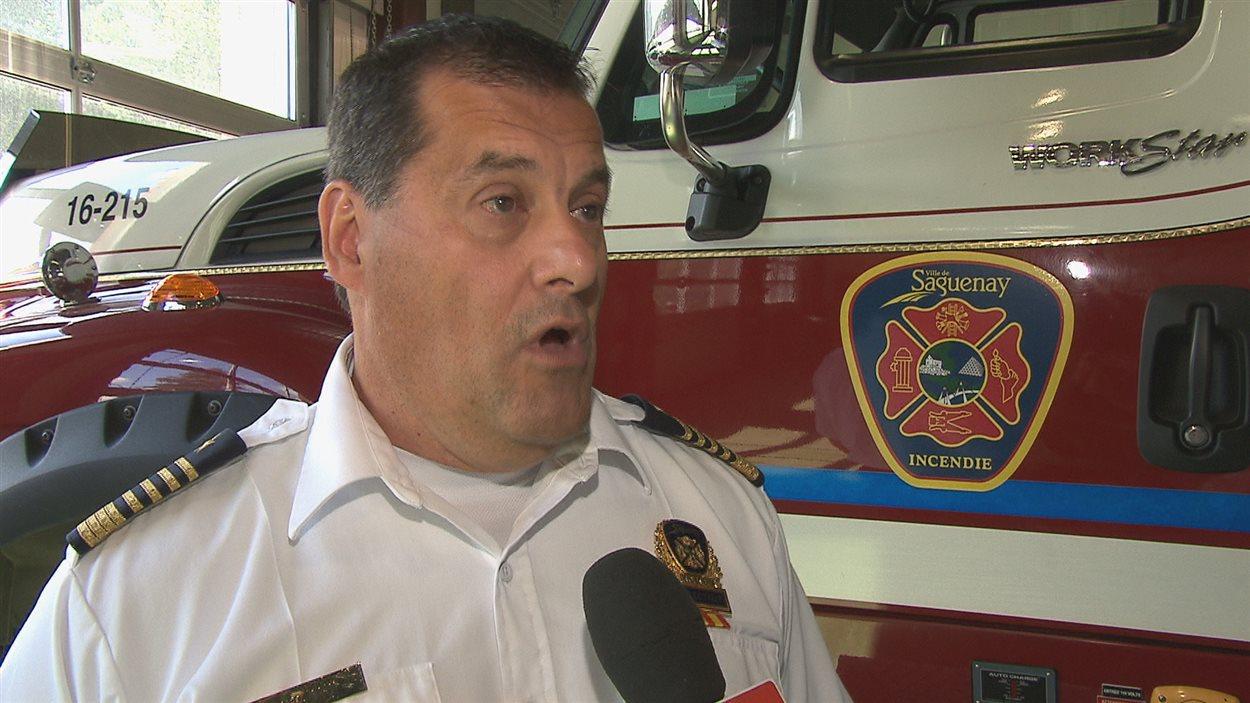 Le directeur du service de sécurité incendie de Saguenay, Camil Girard