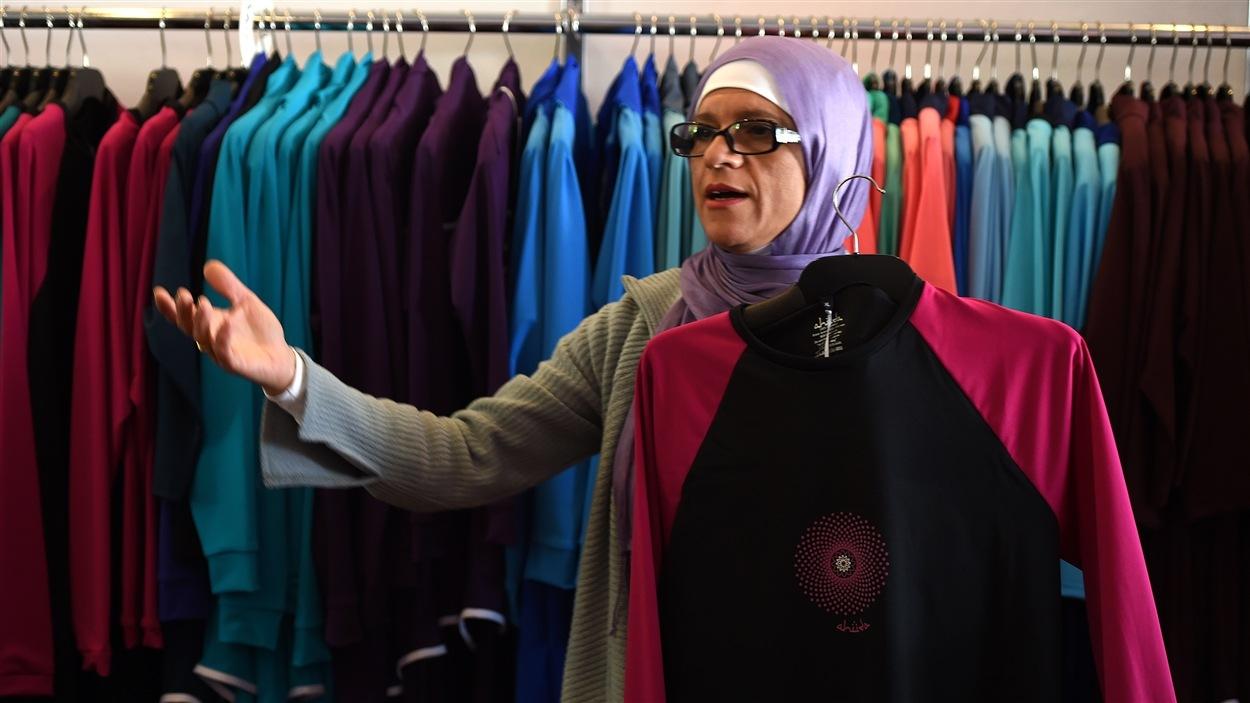 Aheda Zanetti a déposé les marques « burkini » et « burqini » (contraction de burqa et bikini).
