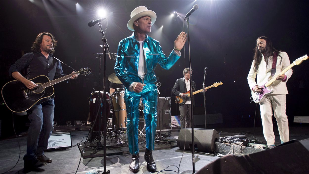 Tragically Hip en concert à Vancouver le 22 juillet 2016