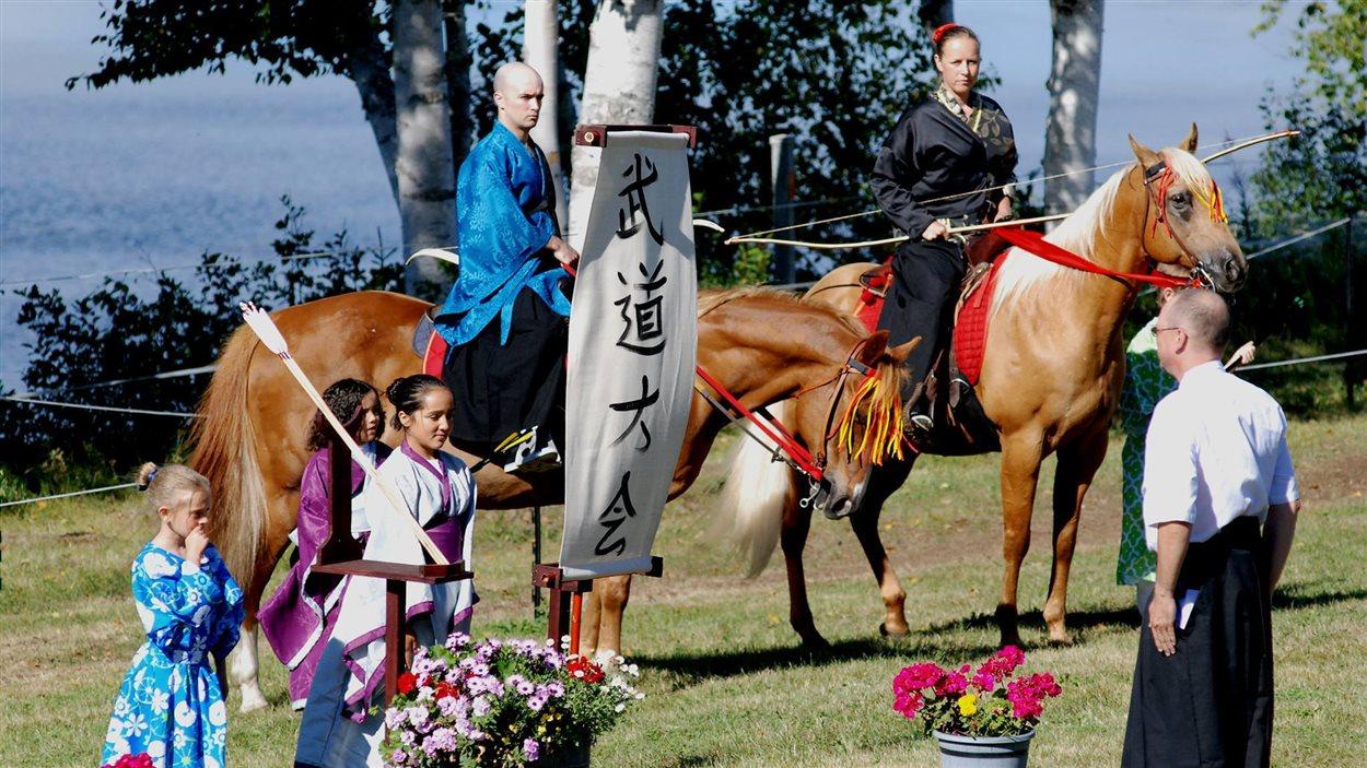 Le yabusame est un rituel pratiqué durant des événements