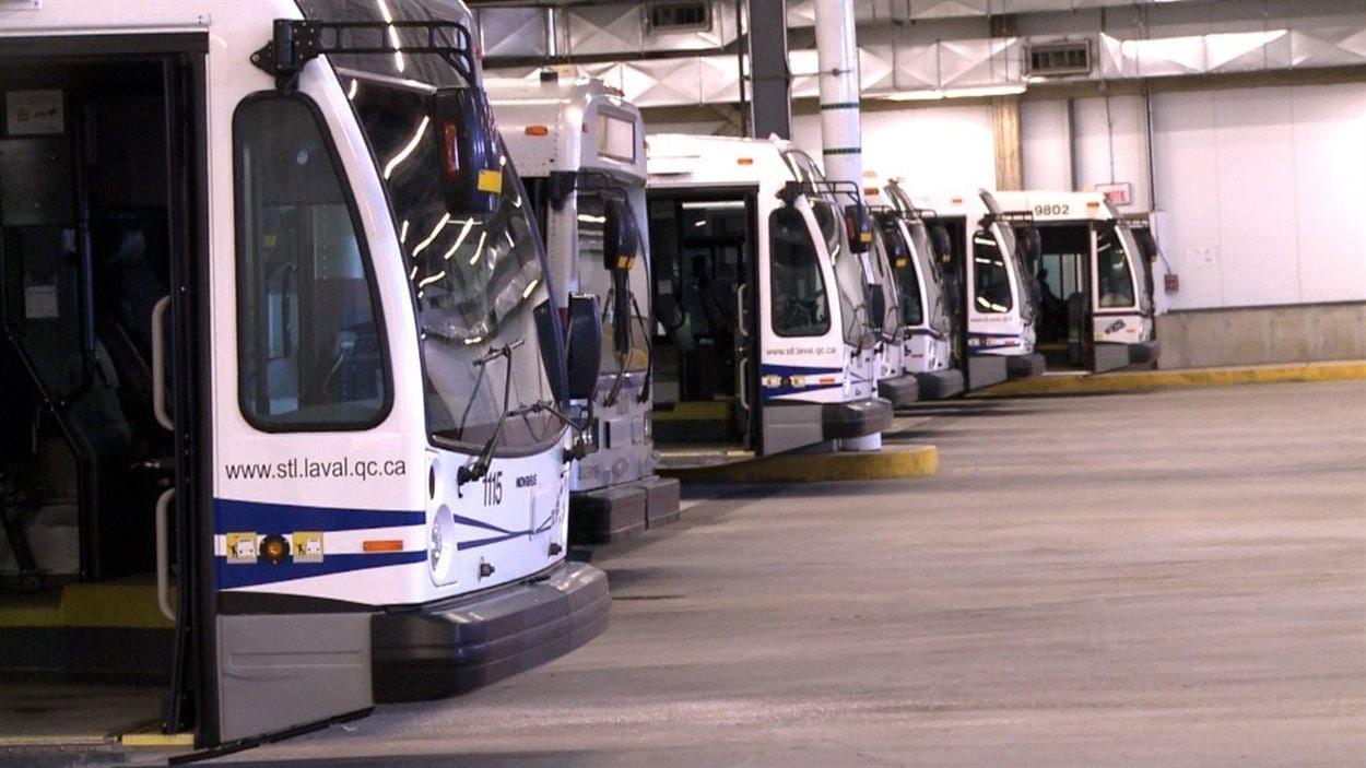 Des autobus de la Société de transport de Laval (STL) (archives)