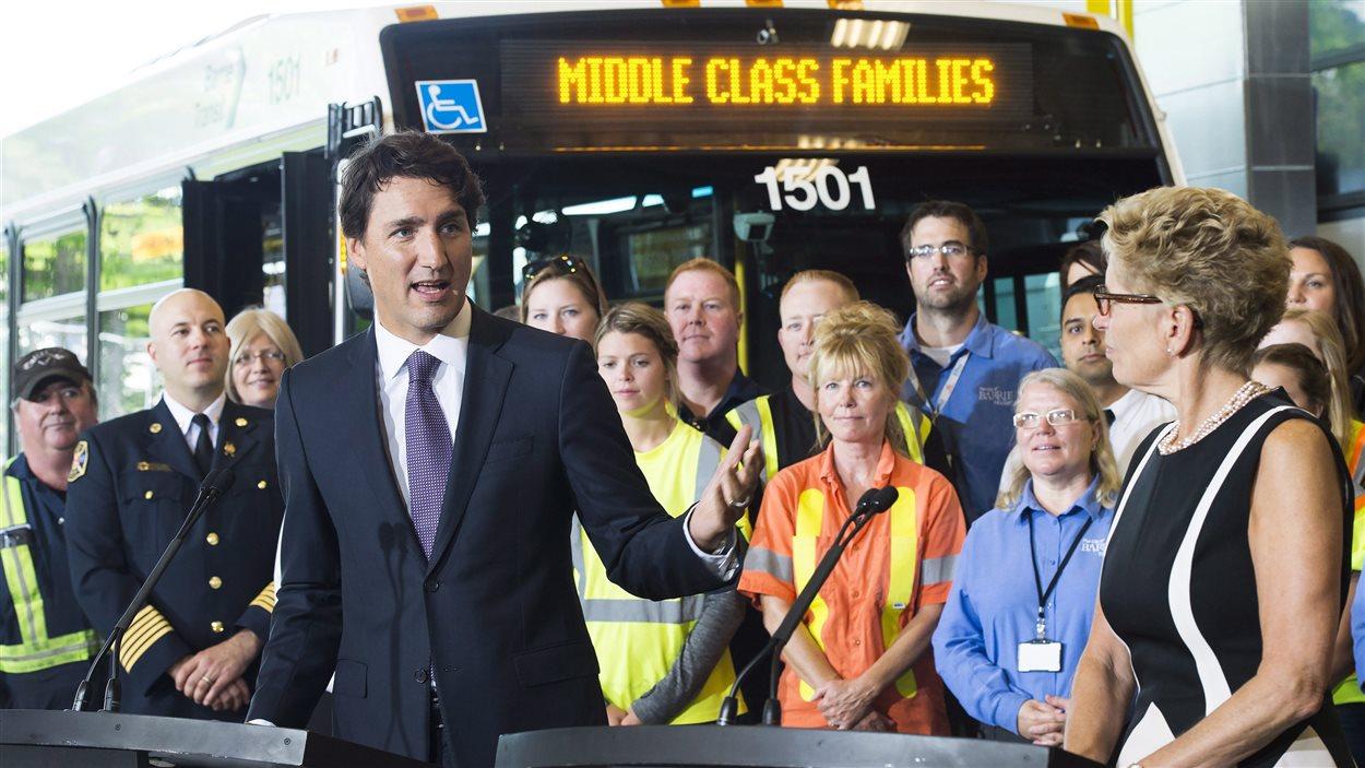 Le premier ministre Justin Trudeau annonce un investissement de 1,49 G$ pour les transports en commun en Ontario