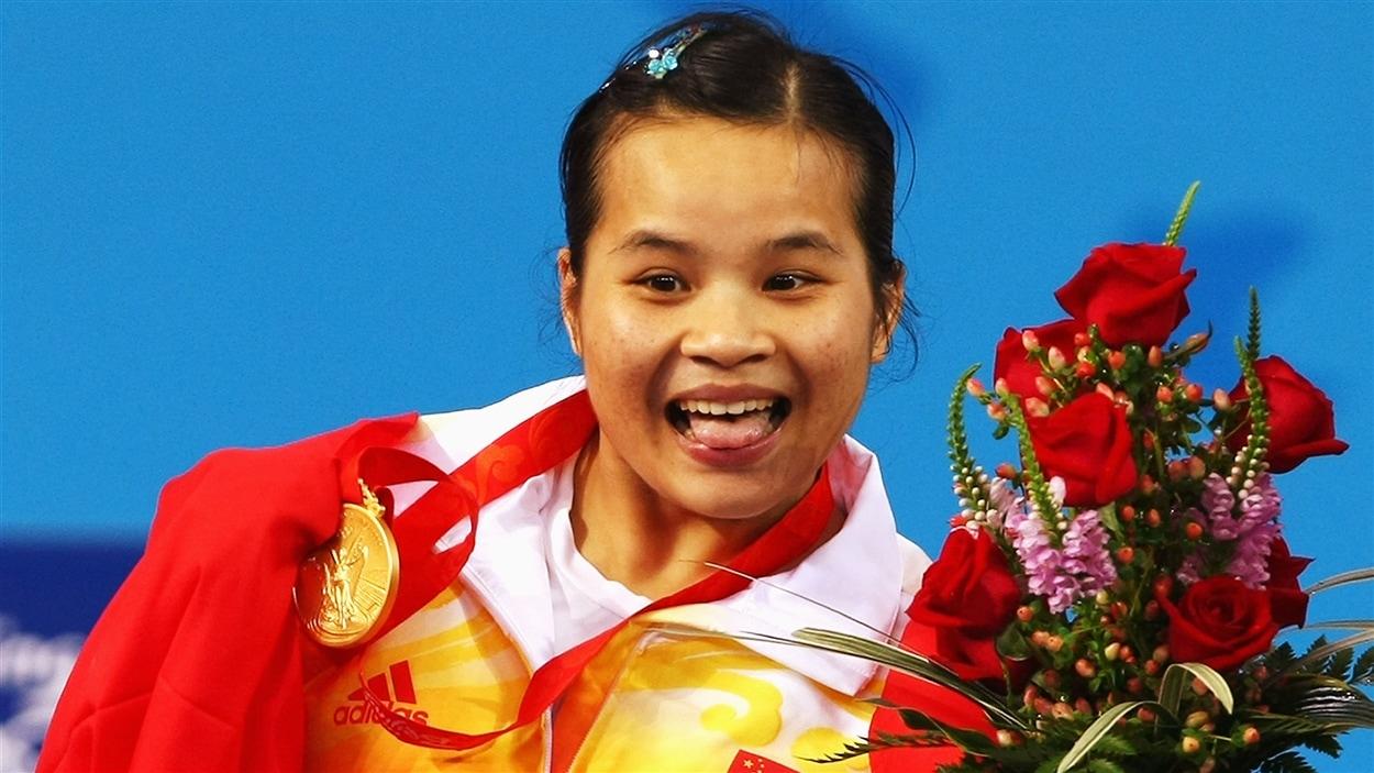 Chen Xiexia, médaillée d'or à Pékin en 2008
