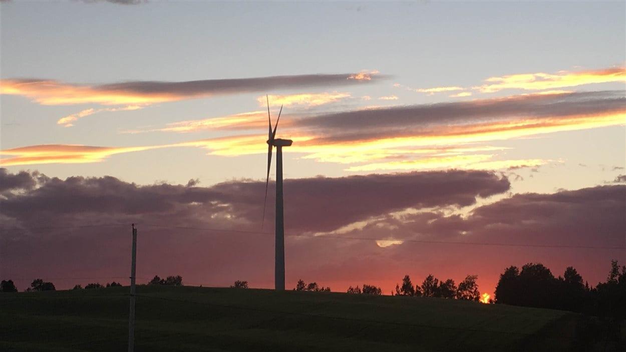 Éolienne du parc éolien de Saint-Léandre