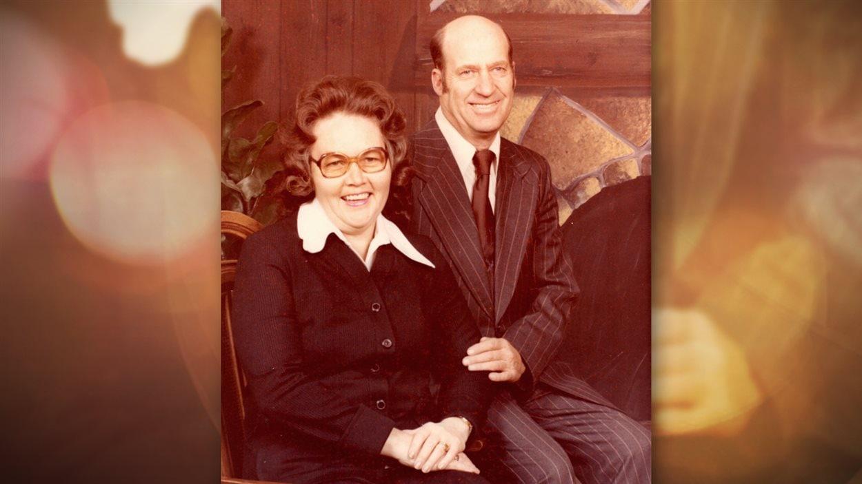 Les parents d'Eric Richardson, quelques années après l'expérience de revenu minimum garanti.