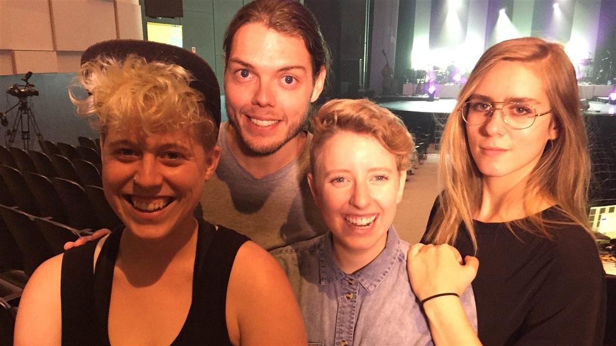 Les quatre finalistes au Festival international de la chanson de Granby