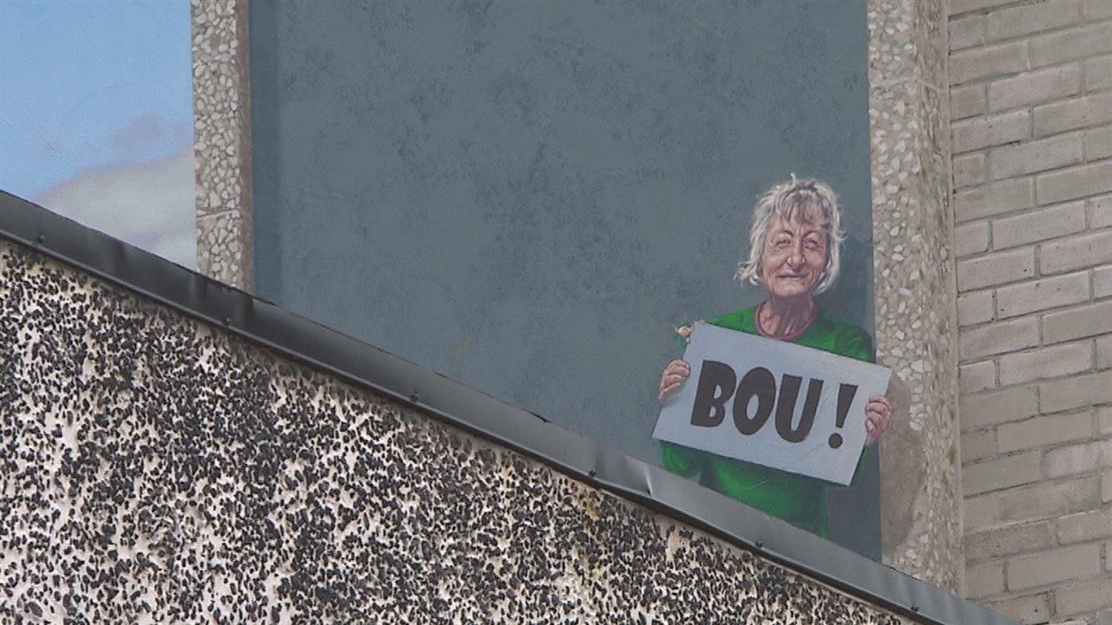 Madame Bou s'est trouvée une place dans la dernière murale du circuit de Sherbrooke.