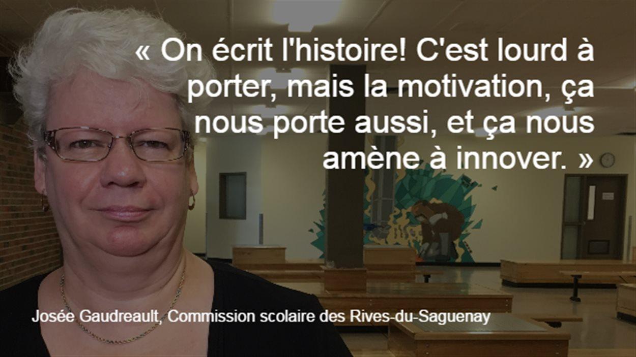 Josée Gaudreault est porte-parole de la Commission scolaire des Rives-du-Saguenay