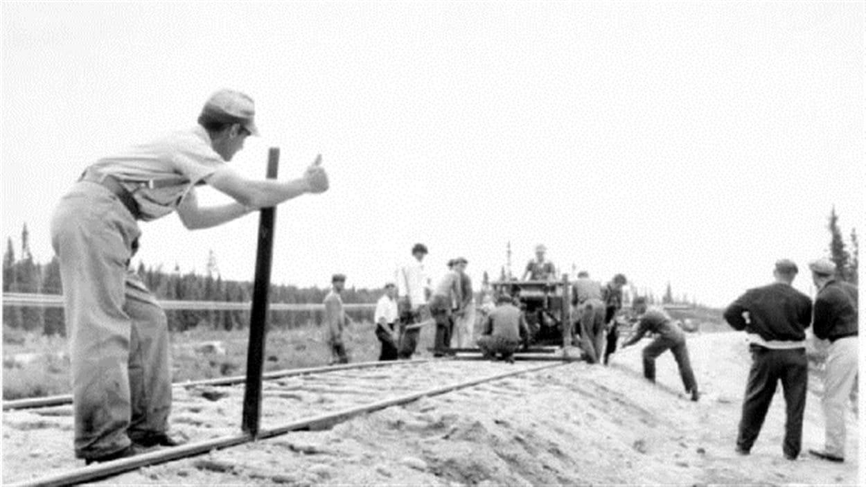 Construction du chemin de fer Transcontinental en Abitibi
