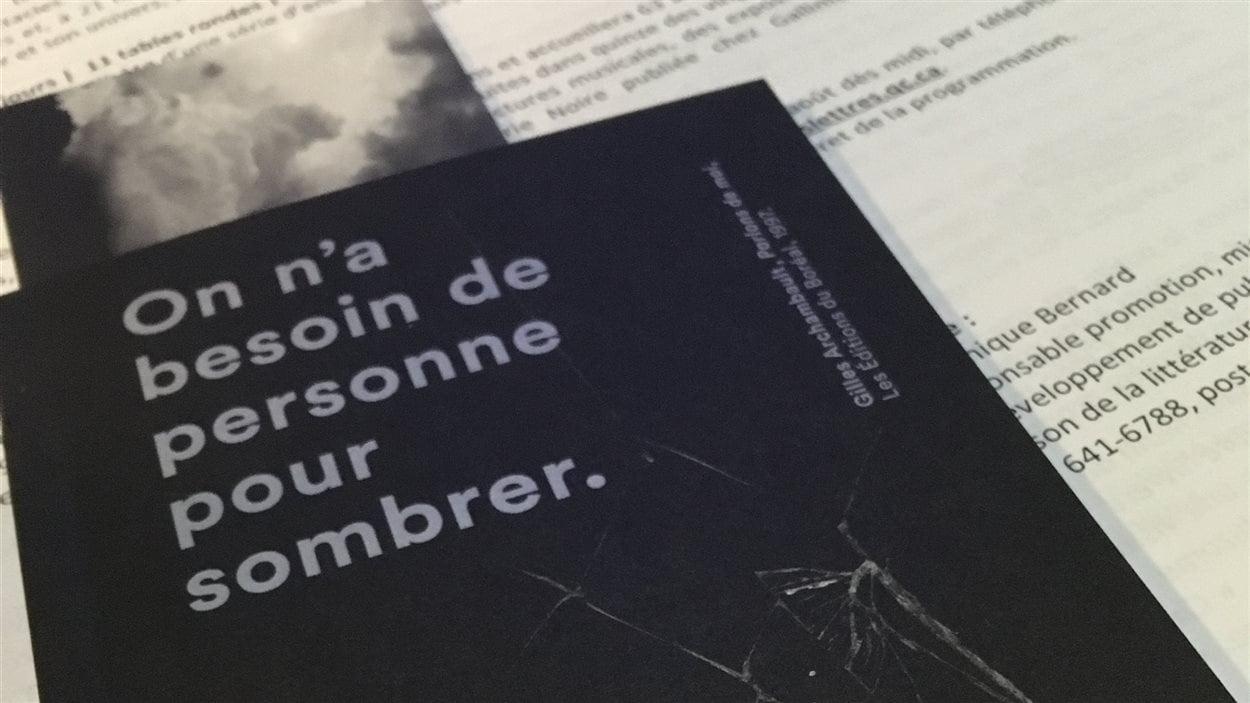 L'affiche de Québec en toutes lettres
