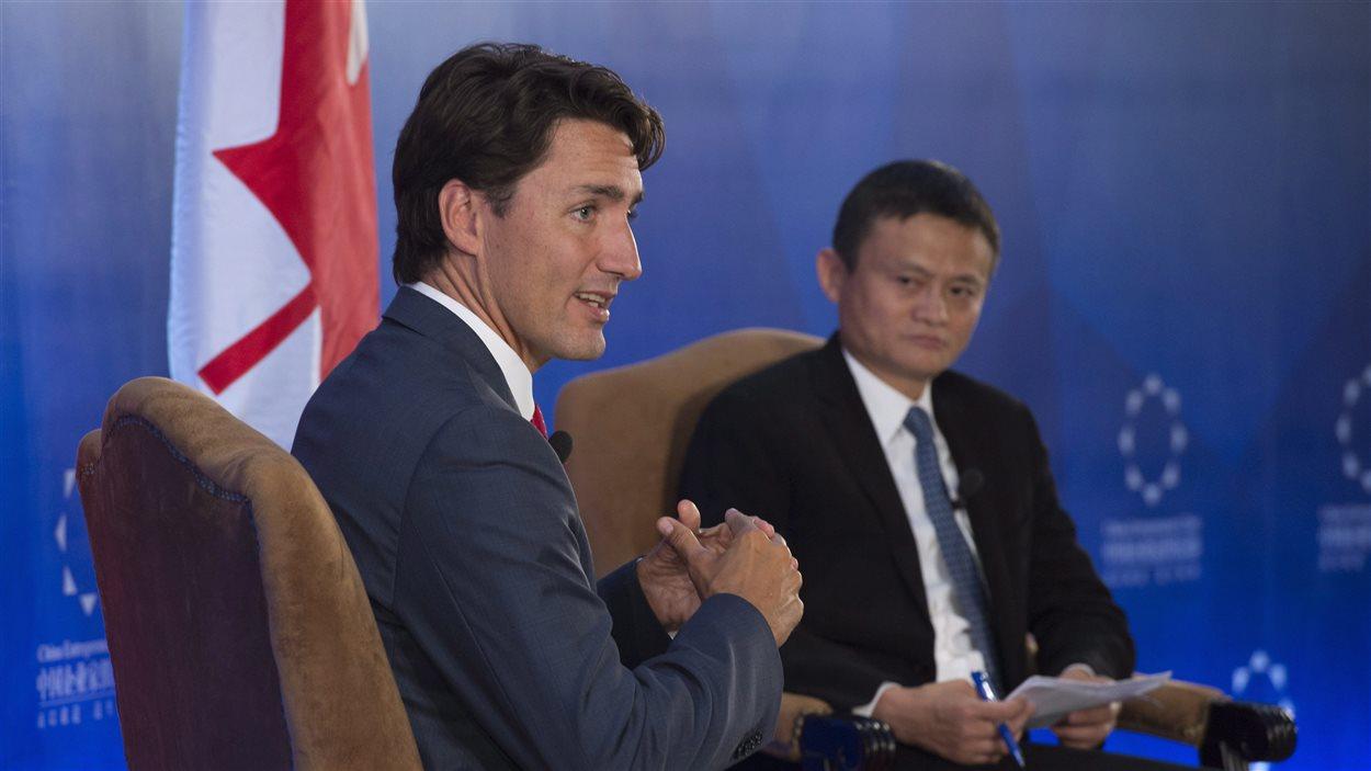 Justin Trudeau a rencontré Jack Ma, reconnu comme le Bill Gates de la Chine.