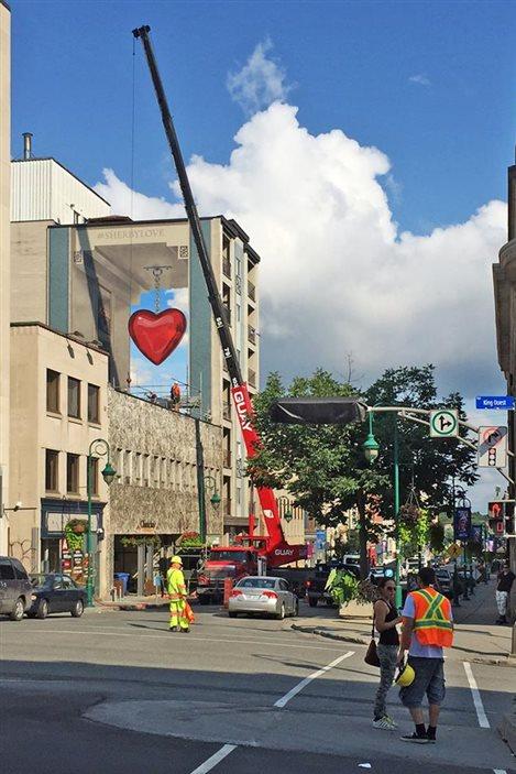 La nouvelle murale de Sherbrooke, #Sherbylove