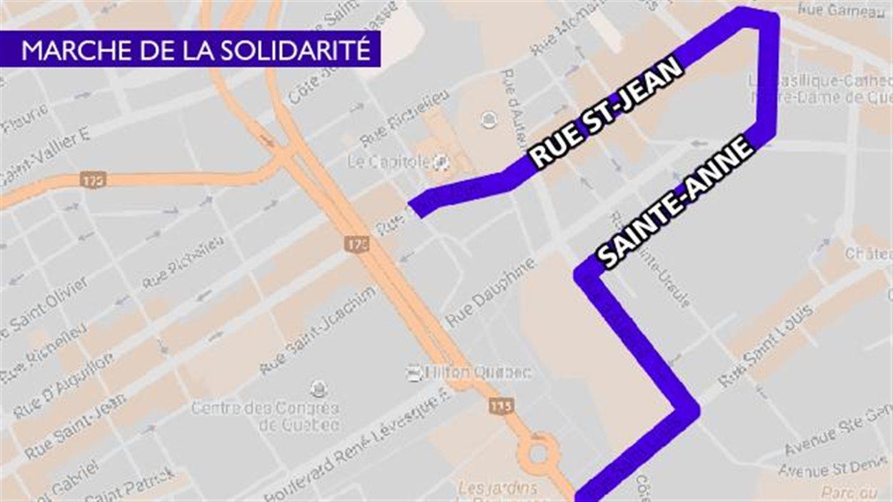 Parcours de la Marche de la solidarité
