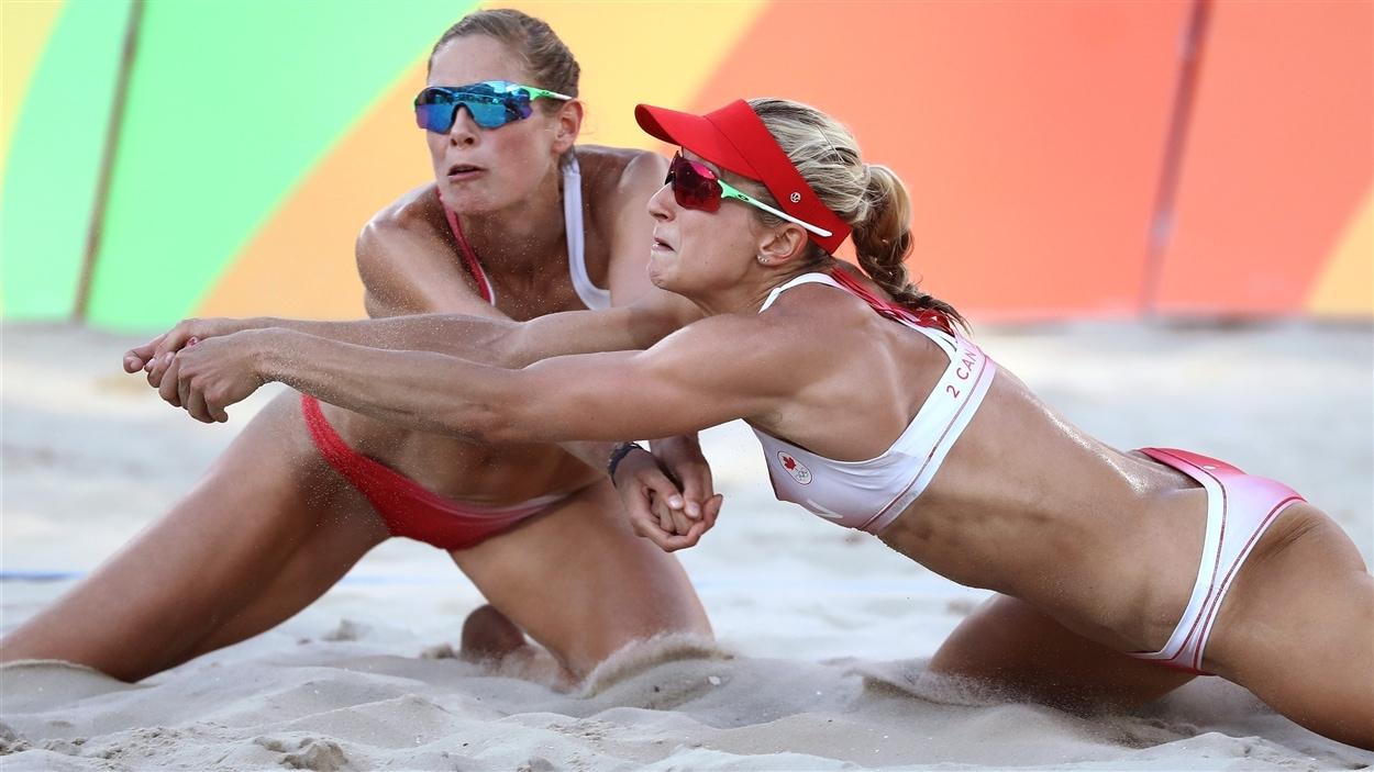 Sarah Pavan (gauche) et Heather Bansley (droite)