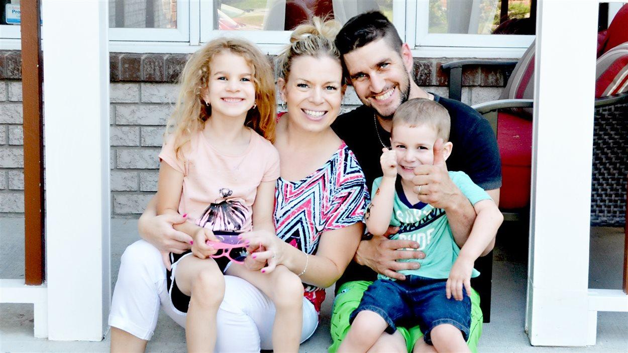 Natacha Ranger et sa famille.