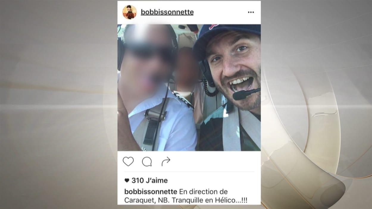 Une publication extraite de la page Facebook de «Bob» Bissonnette, la veille de sa mort
