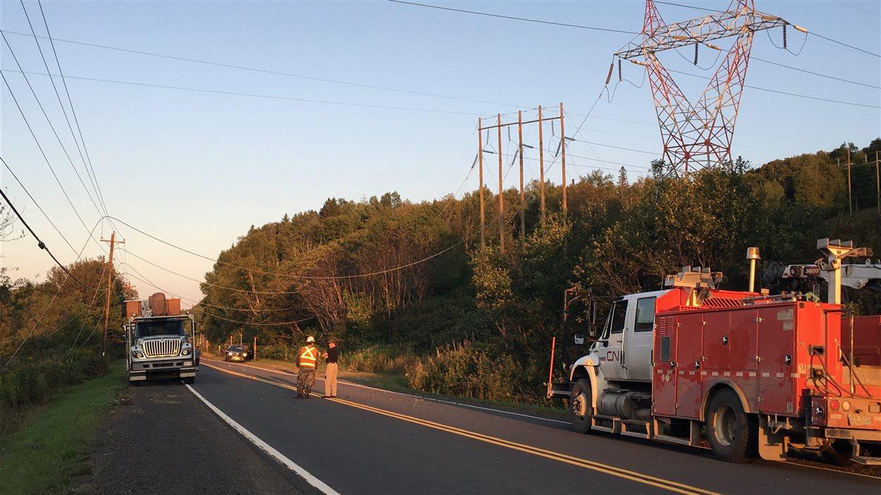 L'hélicoptère s'est écrasé près de la route 11, près de Campbellton, au Nouveau-Brunswick.