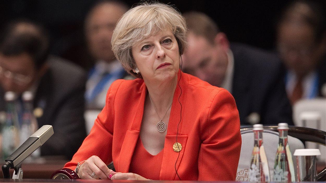 Theresa May assiste au sommet du G20 à Hangzhou dans l'est de la Chine.