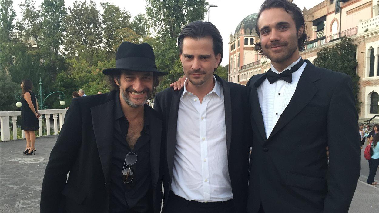 Martin Dubreuil, Karl Lemieux et Jean-Simon Leduc à Venise.
