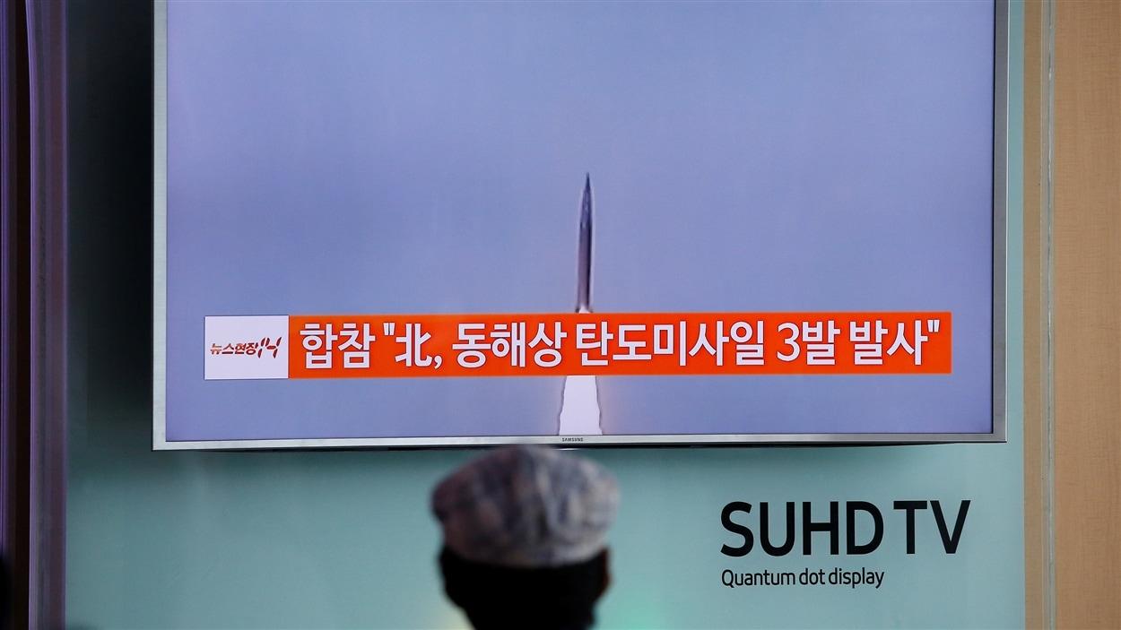 Le lancement des missiles a été diffusé à la télévision sud-coréenne.