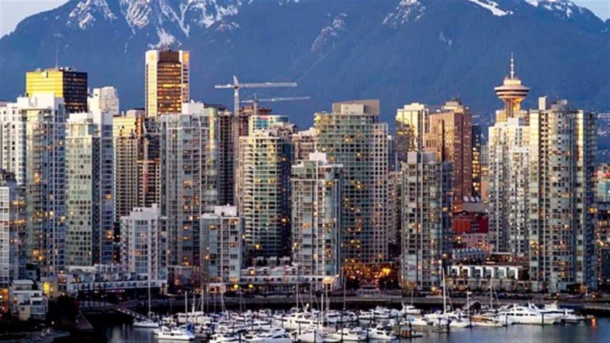 Vue du centre-ville de Vancouver.