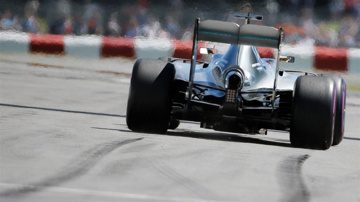 Photo d'une course lors du Grand Prix de formule 1 de Montréal