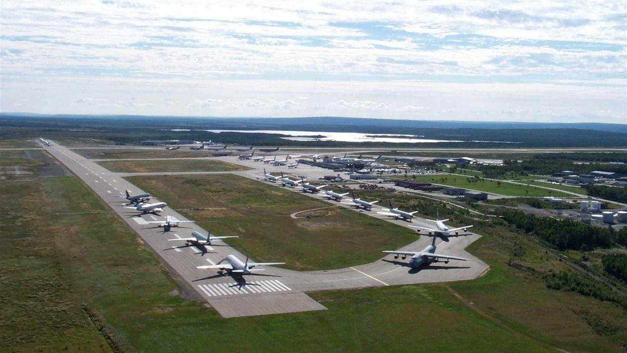L'aéroport de Gander, à Terre-Neuve-et-Labrador, le 11 septembre 2001