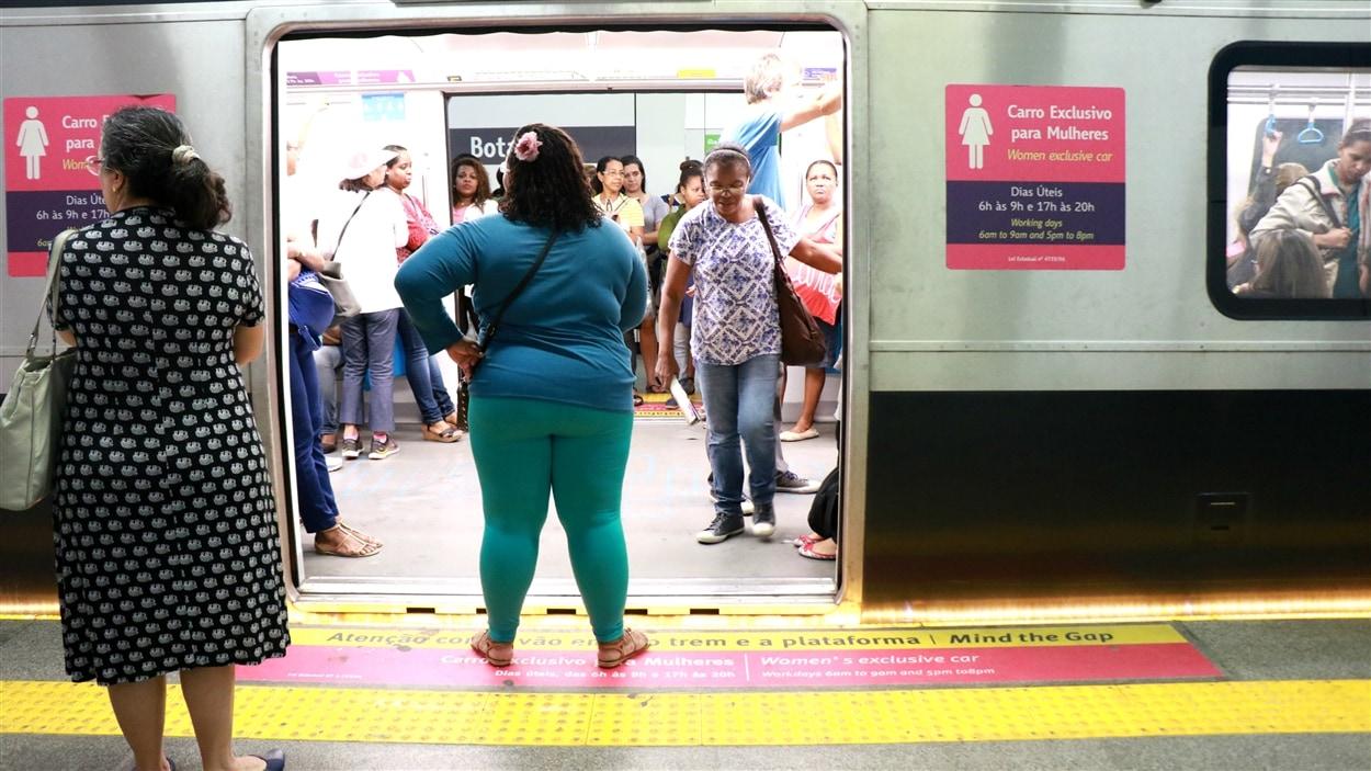 Des wagons de métro sont réservés aux femmes à Rio de Janeiro