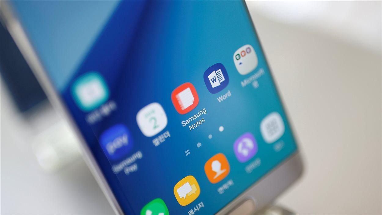 Un appareil Samsung Galaxy Note 7