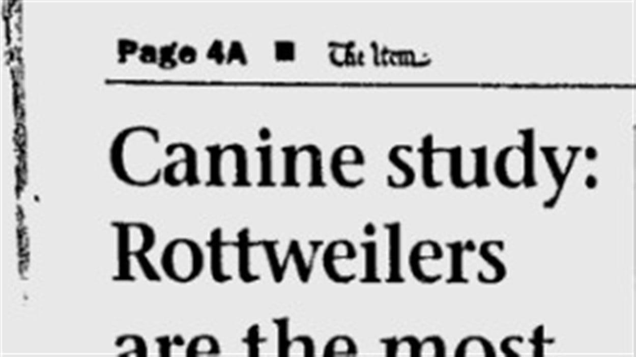 Article publié le 14 septembre 2000 dans le quotidien américain The Item