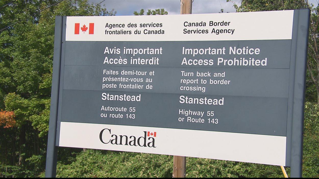 Frontière canada-américaine à Stanstead