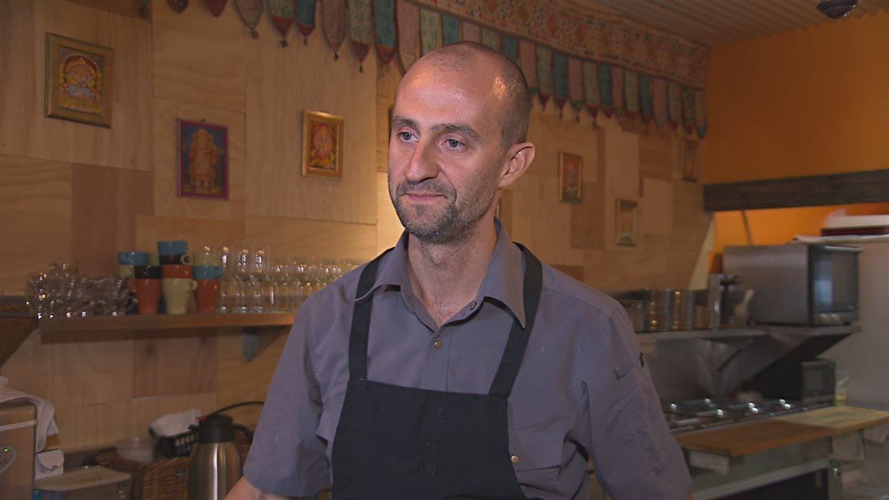 Christophe Richetto, cuisinier au Masala Café