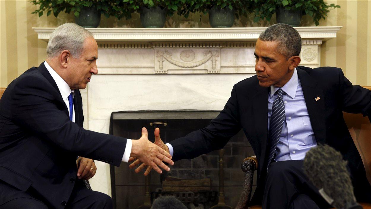 Le président américain, Barack Obama, et le premier ministre israélien, Benyamin Nétanyahou