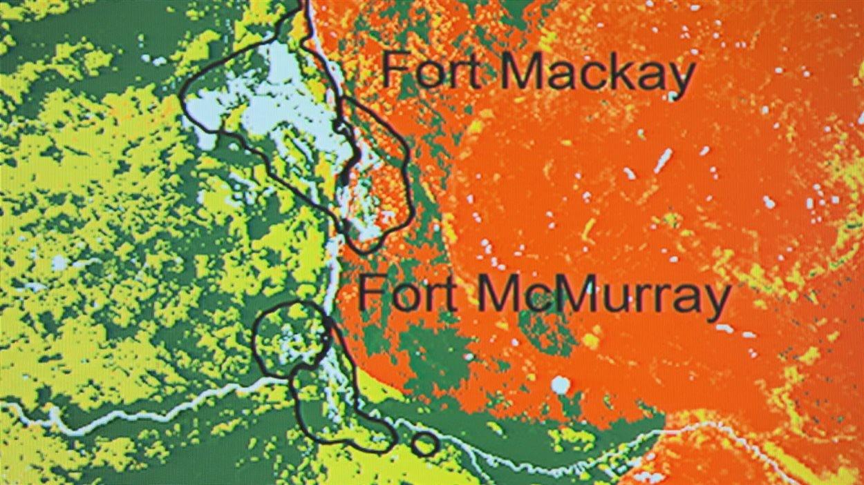Détail de la carte du Service canadien des forêts