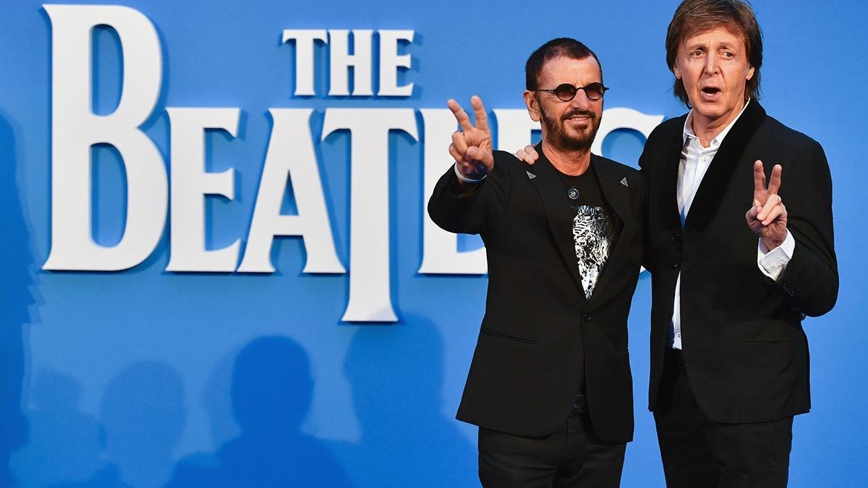 Ringo Starr et Paul McCartney à la première du film «The Beatles : Eight Days A Week - The Touring Years»