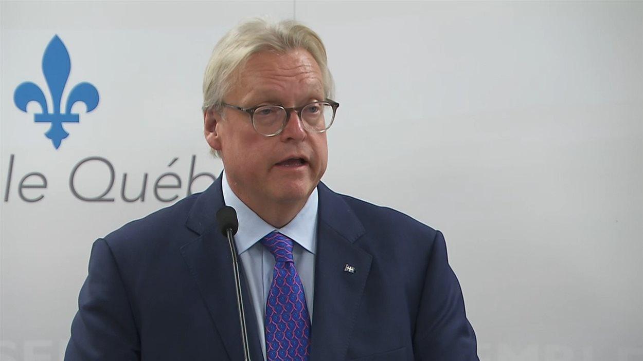 Le ministre québécois de la Santé, Gaétan Barrette.