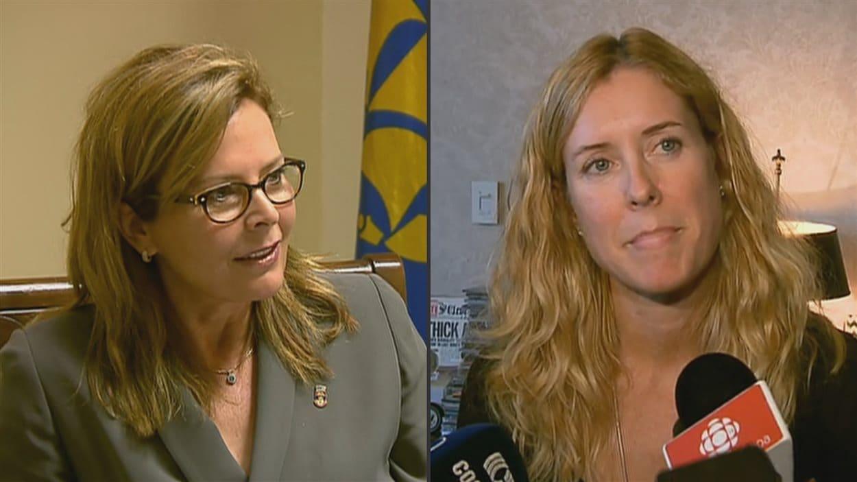 Anne Guérette de Démocratie Québec et Julie Lemieux d'Équipe Labeaume