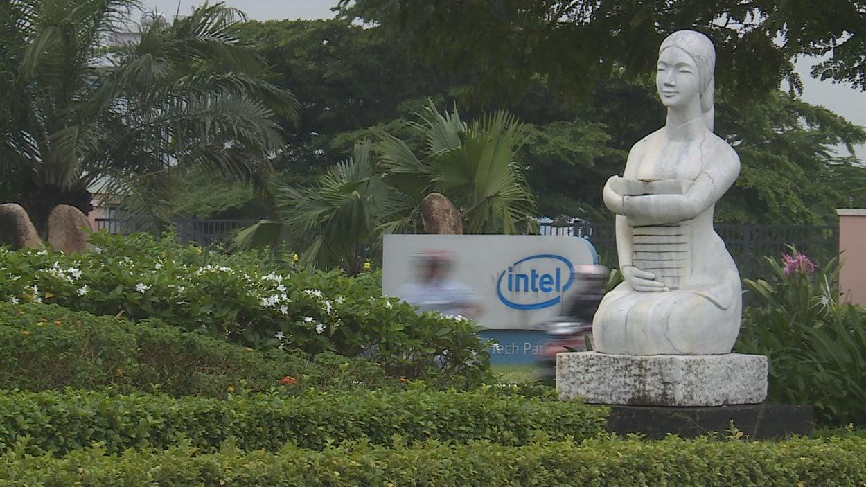 Aperçu des lieux où s'est installée l'entreprise Intel au Vietnam