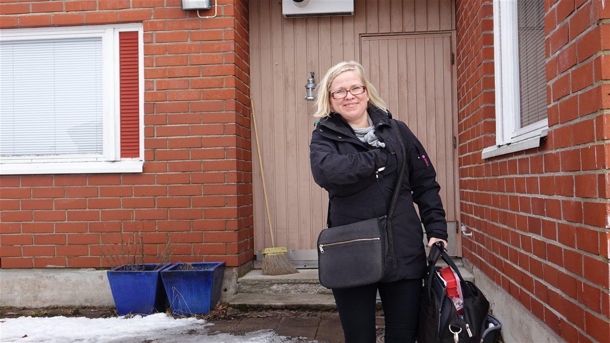 L'infirmière Sari Aaltonen.
