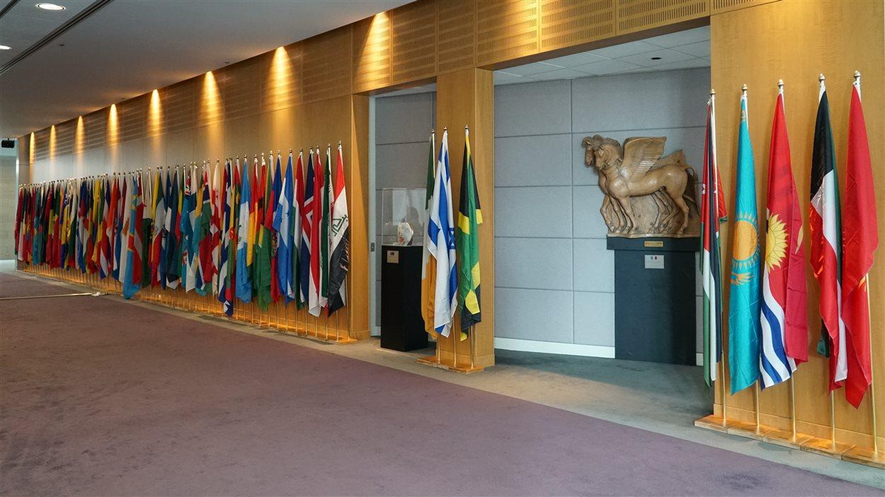 191 drapeaux pour 191 pays membres