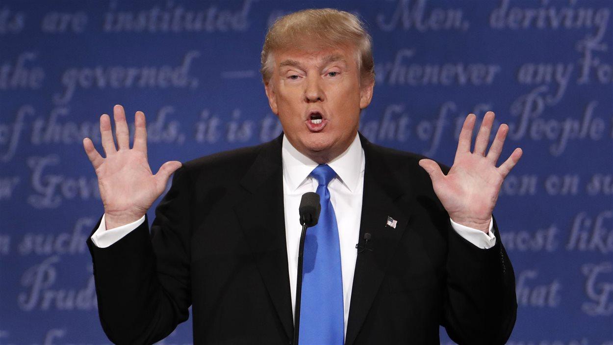 Donald Trump, lors du premier débat présidentiel, tenu à Hempstead, dans l'État de New York.