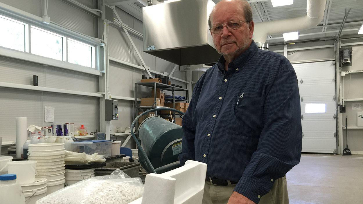 Marc Olivier, chercheur au Centre de transfert technologique en écologie industrielle (CTTEI) à Sorel-Tracy