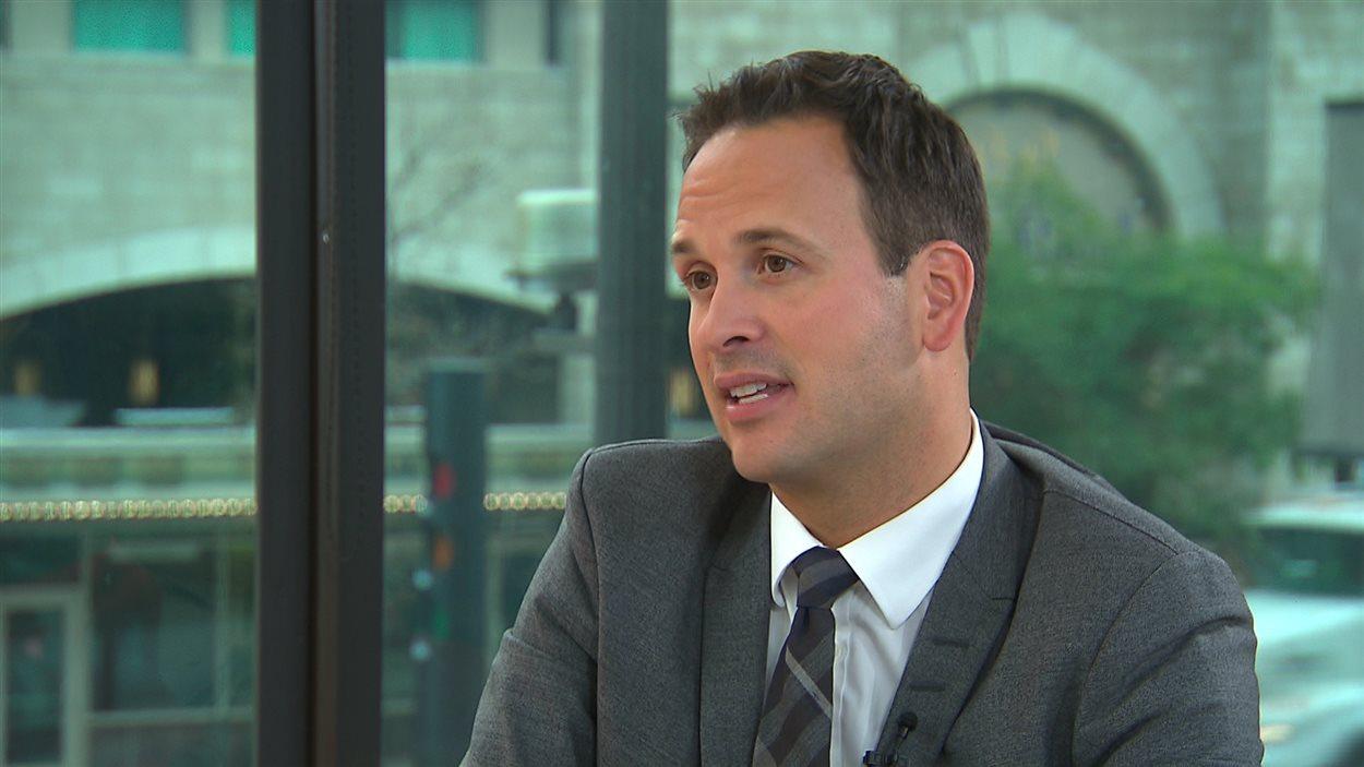 Le candidat à la direction du Parti québécois Alexandre Cloutier