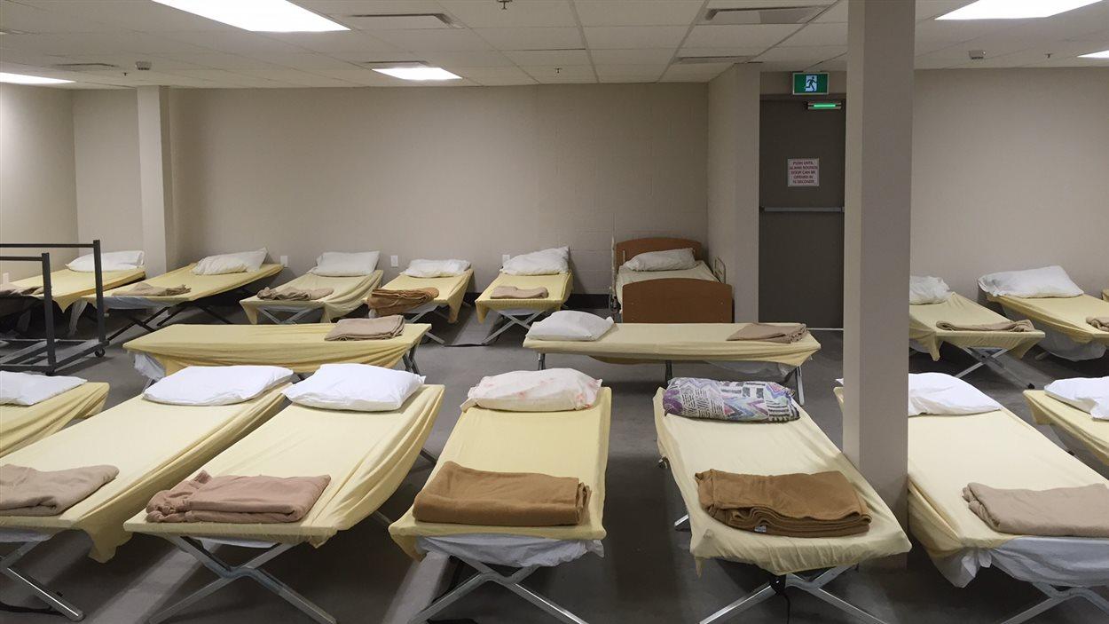 Un dortoir du refuge pour sans-abri Lighthouse à Saskatoon